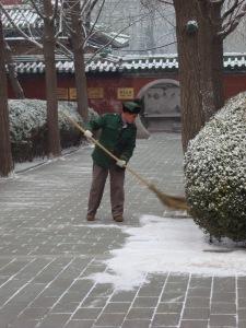 Park keeper, Ritan Park, Beijing