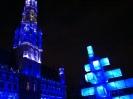 Christmas light show Grand Place 2012