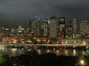 Brisbane, North Bank at dusk
