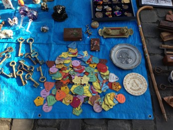 Colourful 'objets' Tongeren antiques market