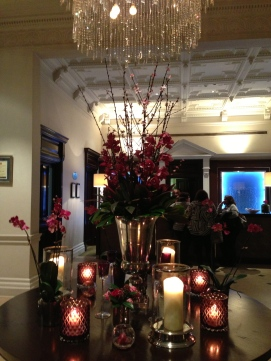 Gorgeous lobby at the Horseguards hotel, London