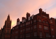 Sunrise over Mayfair, London