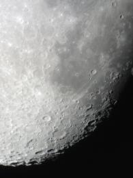 Moon craters, seen from Jordan