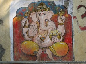 Ganesh mural, Mumbai, India
